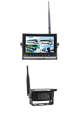 Funk Rückfahrsystem Funk Rückfahrkamera mit 17,8 cm (7') Funk Quad Monitor YMPA RFS-7DFS1