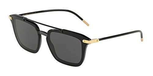Dolce & gabbana 0dg4327 occhiali da sole, nero (black), 45 uomo