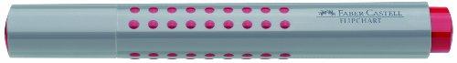 Faber-Castell GRIP – Rotulador para pizarra de punta redonda (10 unidades), color rojo