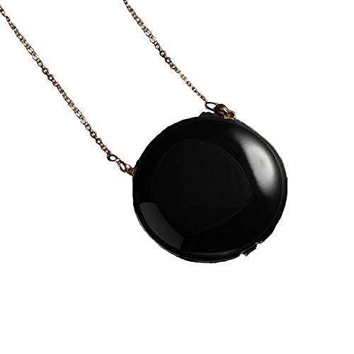 KASIQIWA Spezielle Luxus-Halskette, tragbarer negativer Ionenluftreiniger für frische Luft und Strahlenschutz Körpergesundes Produkt,Black