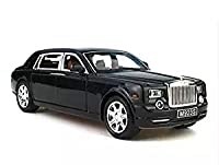 1:24 Rolls-Royce Phantom Diecast Sound & Light & Pull Back Model Toy Car Black New in Box
