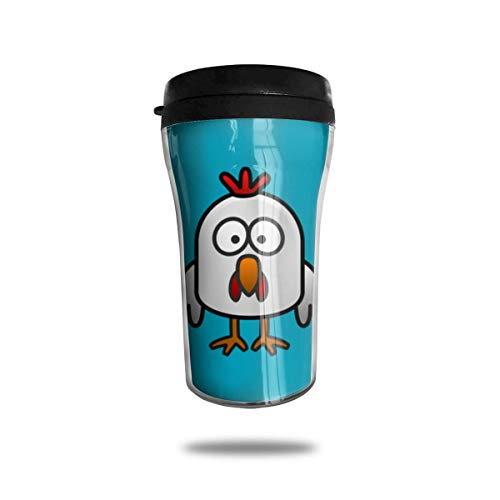 Bgejkos Cute Rooster 8.45oz Coffee Mugs Birthday Gifts Insulated Tea Cup Leakproof -