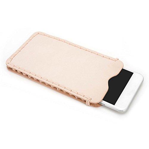 Kroo Étui ultra fin en cuir véritable pour téléphone portable Lenovo S860 Marron - peau Marron - peau