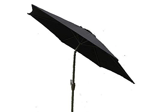 UK-Gardens Groß 2m, 2,7m Oder 3m Metall-Kurbel- und Tilt Garten Sonnenschirm Regenschirm-10Farben 3Größen