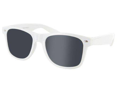 Alsino Afro Perücke Plus Sonnenbrille nach Wahl Set Karneval Fasching Party Outfit, Brille wählen:V-816 weiß