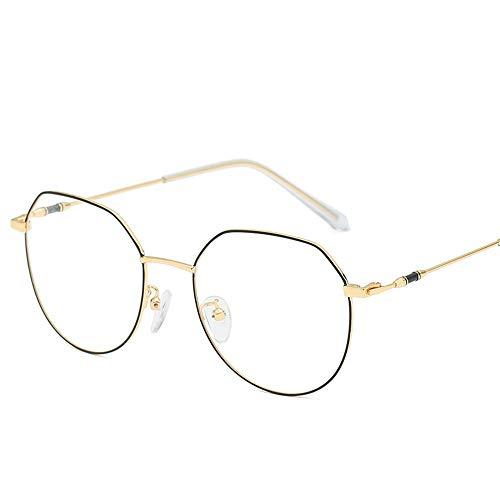 Easy Go Shopping Weibliche Metallrahmen-Glas-allgemeine Computer-Schutzbrillen-Männer und Frauen (Farbe : Gold, Größe : Free Size)