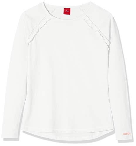 s.Oliver Mädchen 53.908.31.8673 T-Shirt, Beige (Ecru 0210), 128 (Herstellergröße: 128/134/REG)