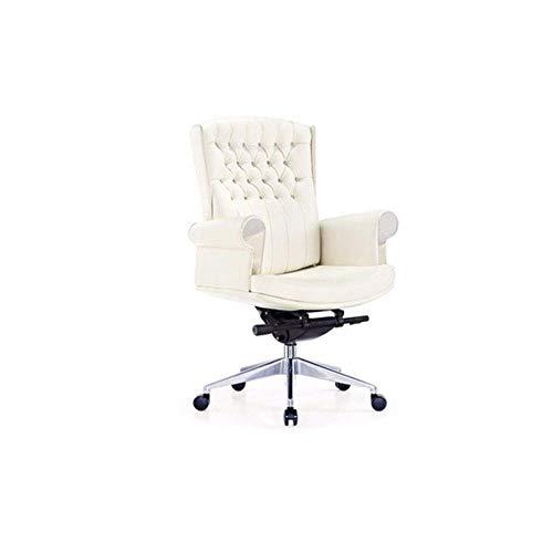 PU Leder Luxus Executive Swivel Bürostuhl Computertisch Hohe Rückenlehne Schreibtisch Stühle Höhenverstellbar Sessel Gaslift Lehnsitz (Farbe : B) - Leder Swivel Sessel Stühle