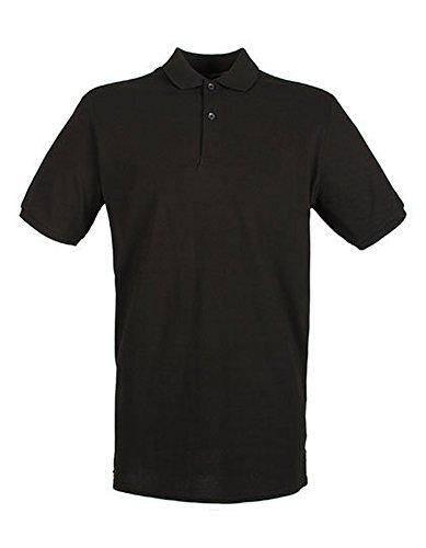 Modern Fit Cotton Microfine-Pique Polo Shirt Black