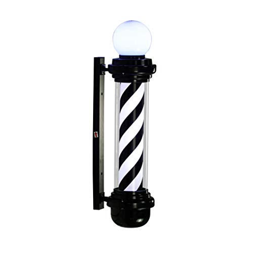 LED Barber Pole Weiß Rot Rotierenden Beleuchtung Streifen Wasserdichte Licht Friseursalon Shop Zeichen,66cm -
