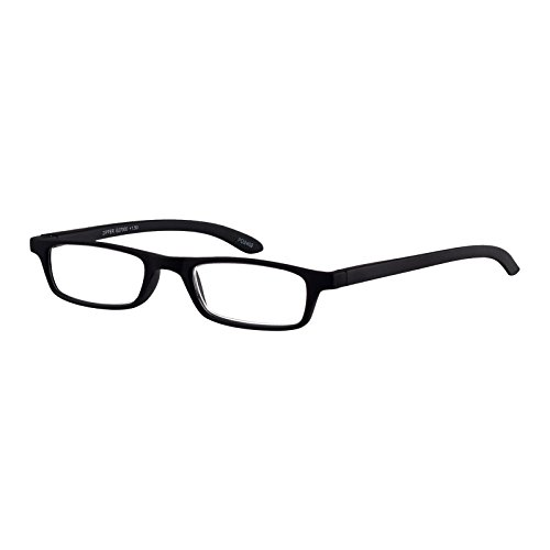 I NEED YOU Lesebrille Zipper / +2.00 Dioptrien / Schwarz