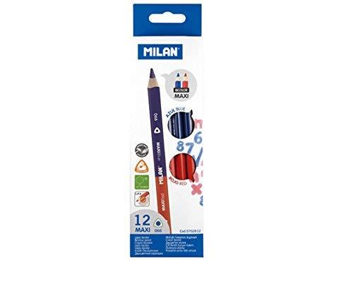 Caja 12 lápices bicolores Maxi (azul y rojo)