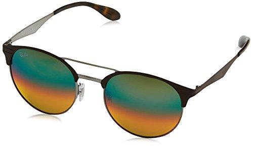 Ray-Ban Unisex-Erwachsene Sonnenbrille Rb 3545 Gunmetal/Matte Brown/Gradient Silver, 54
