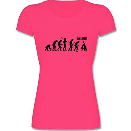 Shirtracer Evolution Kind - Hip Hop Evolution - 164 (14-15 Jahre) - Fuchsia - F288K - Mädchen T-Shirt (Tänzerin Damen-pink T-shirt)