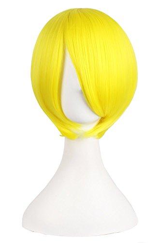 Peluca amarilla corta estilo años 20
