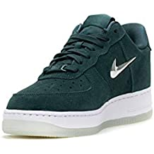Nike Sneakers Wmns Air Force 1  07 Prm LX Verde Petrolio Bianco Grigio  Metallico AO3814 a5b8f714a24
