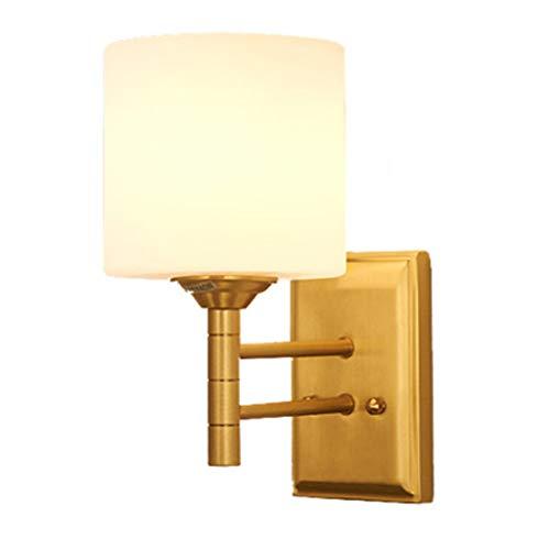 Amerikanische volle kupferne Wandlampe, Mattglas-Schlafzimmer-Wohnzimmer-Schrankbett ging durch die Korridor-Lichter, Innenbeleuchtung (Kristalle Frisch Schritt)