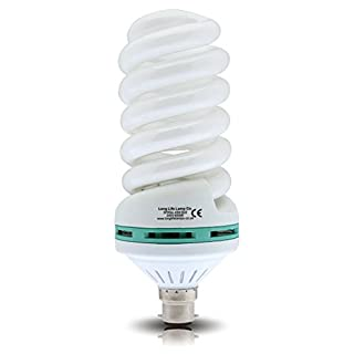 Instant Light 45w Energy Saving Spiral Light Bulb Daylight White 6500k B22 Bayonet Cap 200w Light Output Very Bright