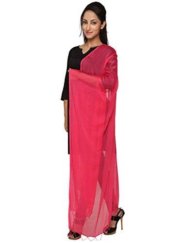 Dupatta Bazaar Women's Dupatta (DB0375_Dark Pink_Free Size)