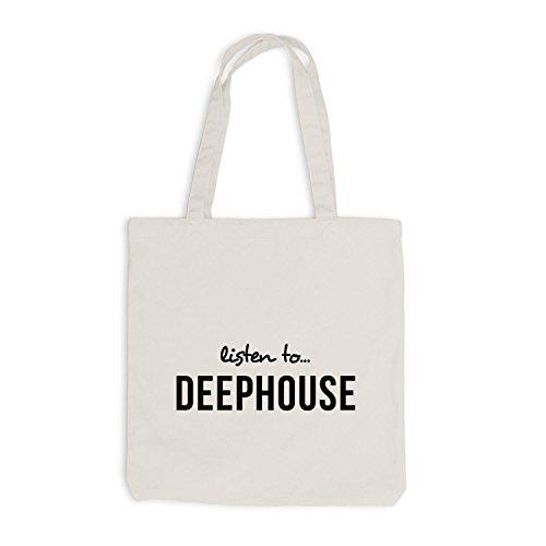 Jutebeutel - Ascolta Deephouse - Music Fan Musik Beige