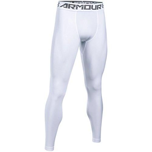 Under Armour Herren HG 2.0 Leggings, White, XL
