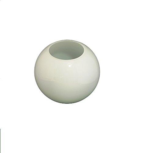 12.5cm diamètre Verre Blanc Sphériques Abat-jour avec aucun collier. Circonférence: 39cm, Trou: 6.5cm dia. [éclairage lumière ballon rond sphère remplacement lustre globe]