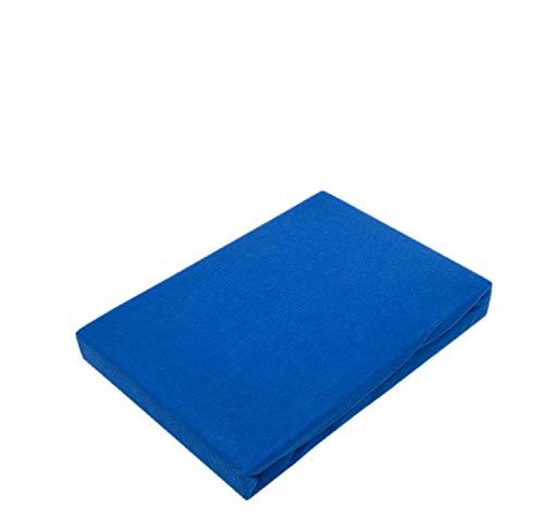 Sábana bajera ajustable, 100 % algodón, azul real, 90 - 100 x...