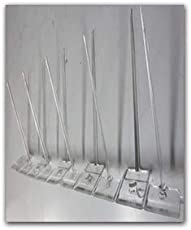 Birdproof Polycarbonate 2 Rows Bird Spike(Pigeon Spikes) for Bird Control- Pack of 10 nos.