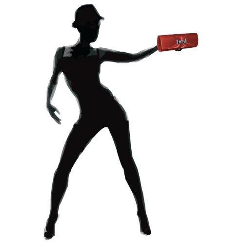 CASPAR Damen Clutch / Abendtasche mit Strass / Kristall Schleife - viele Farben weinrot