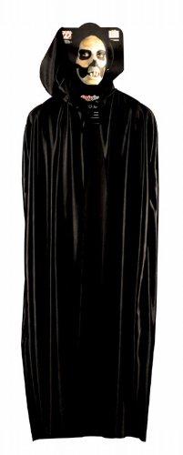 Widmann 3585C - Umhang mit Kapuze, schwarz, ca. 142 (Cape Kostüm Schwarze Kapuzen Ideen)