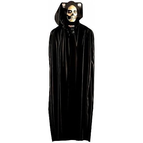 Largo Negro capucha Cabo Accesorio para Superhéroe superhéroe vestido de lujo