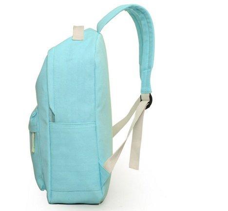Ohmais 2PCS Rücksack Rucksäcke Rucksack Backpack Daypack Schulranzen Schulrucksack Wanderrucksack Schultasche Rucksack für Schülerin blau