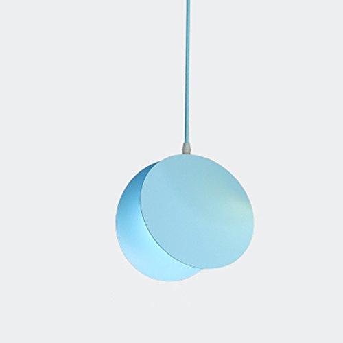 Nordic Macaron Pendelleuchte Regenbogen kreative Schmiedeeisen Kronleuchter Märchen Wohnzimmer Esszimmer Schlafzimmer Deckenlamp Beleuchtung, E27 (nicht enthalten) (Adriatisches Meer blau)