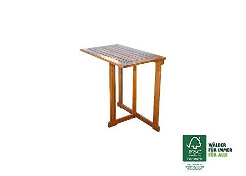SAM® Akazie Holz Gartentisch Alessio, FSC® 100% zertifiziert, hochwertiges massives Akazienholz für Garten und Terrasse 70 x 45 cm