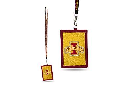 Iowa Mädchen (Rico NCAA Iowa State Cyclones Perlen Gem Lanyard mit ID Wallet)