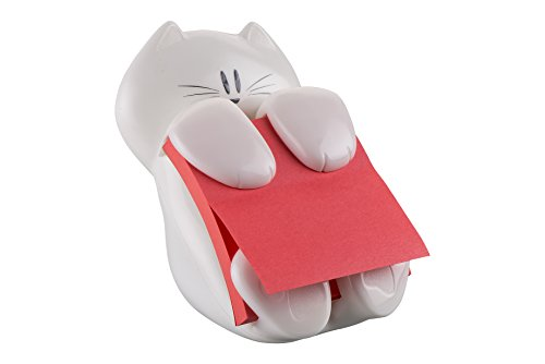 post-it-brand-76045-dispenser-gatto-da-tavolo-ricaricabile-e-una-ricarica-di-foglietti-post-it-super