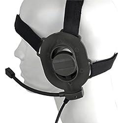 Tactical ajustable arnés militar airsoft paintball caza sniper Bowman elite II auricular Z 027 encajar todos PTT Plug, auriculares tácticos, auriculares anti ruido, auriculares al aire libre, walkie talkie, la caza, auriculares de campo, anti interferencia auriculares, equipo de campo, auriculares de campo (FG)