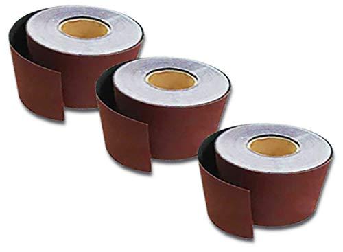 2x 10m Klett Rolle Schleifpapier Schleifrolle 115 mm Rollenschleifpapier P 150 (2 Klett-rollen)