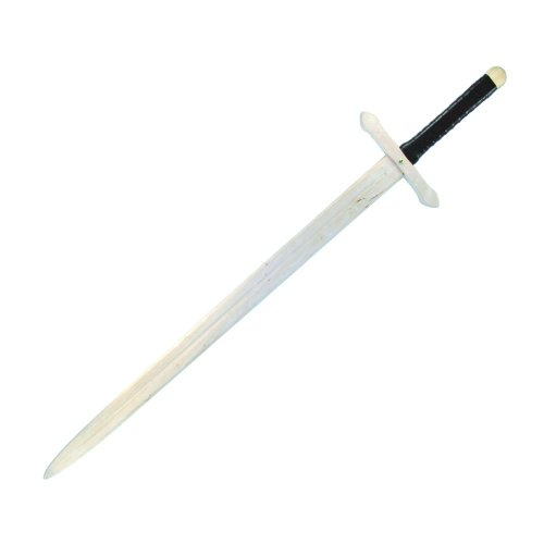 Flucht Holz (BestSaller 1007 Ritter Zweihand Schwert aus Holz, mit lederumwickeltem Griff, 107 cm, natur/schwarz (1 Stück))