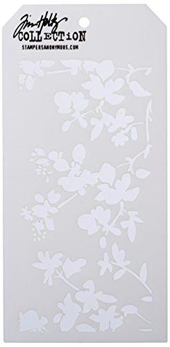 "Tim Holtz Layered Stencil 4.125""X8.5""-Blossom"