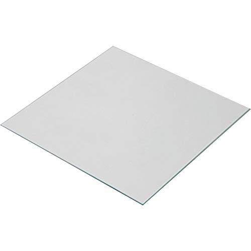 Wisamic 220x220x3mm Calore in vetro borosilicato trasparente per stampanti 3D MK2 / MK2A, Anet A8, Anet A6, Reprap, Mendel