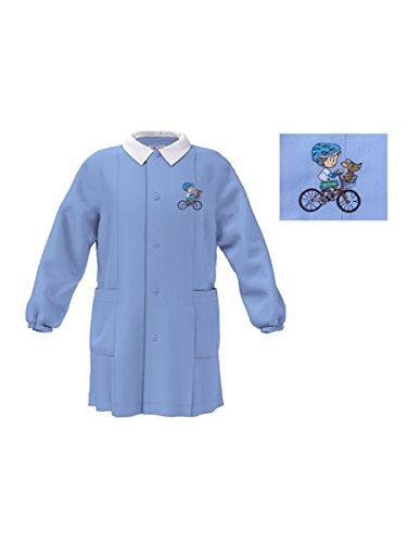 Siggi grembiule asilo da bambino 33gr23082 quadretto bianco/azzurro (quadretto bianco/azzurro, 5 anni)