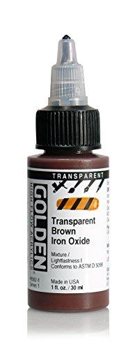 golden-high-flow-acrylic-30ml-1oz-bottles-transparent-brown-iron-oxide
