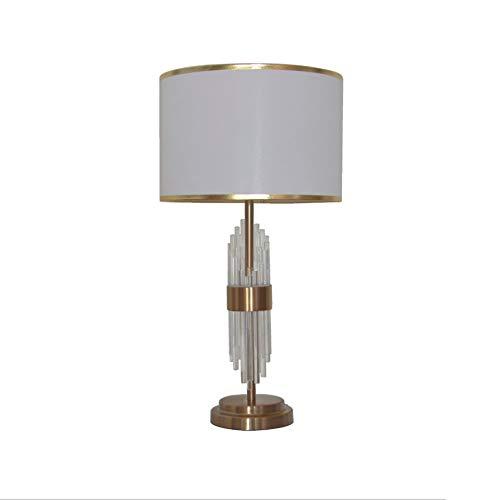 Nachttischlampe Kristall lampenständer, elegante weiße lampenschirm, mit kristall edler, extrem komfortable weiche lichtempfindlichkeit, geeignet für schlafzimmer, wohnzimmer, arbeitszimmer, etc.