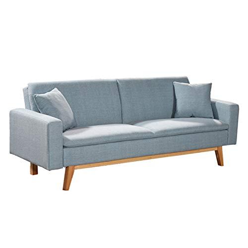 "Novohogar Elegante sofá Cama 3 plazas Malmö Confortable y fácil de Abrir Gracias a su Sistema ""Clic-clac o ""de Libro (Celeste)"