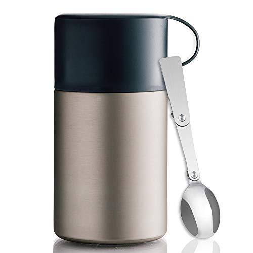 BOHORIA Premium Thermobehälter für Essen mit Löffel 600 ml |...