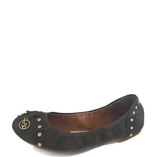 Armani Jeans T5572 Ballerina Schuhe Frau Grün 41 (Armani Ballerina)