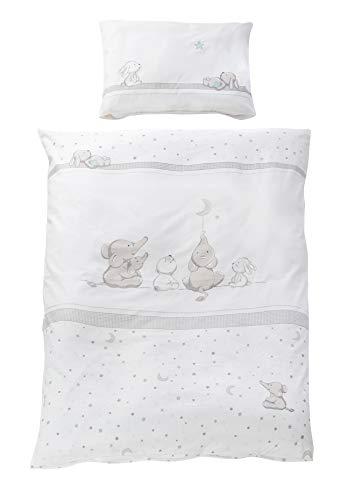 40x35 cm Glücksengel grau NEU Roba Kinderbettwäsche Bettwäsche 2-teilig 80x80
