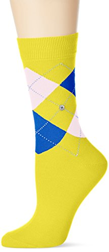 Burlington Damen Socken Queen, Mehrfarbig (Cyber Yellow 1711), 36/41