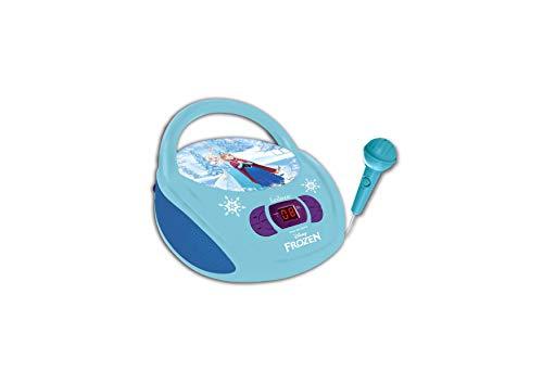 Lexibook - rcd108fzz - Radio lecteur CD avec micro Reine des Neiges - prise écouteurs - entrée line-in